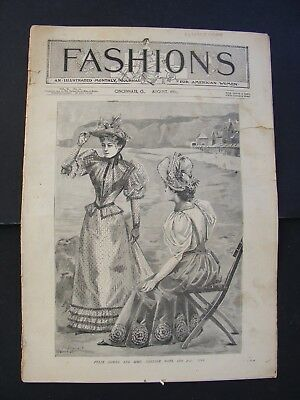 August 1893 Illustrated Fashions Monthly Journal For Women Cincinnati Oh