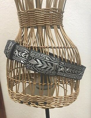 Solid Silver & Leather Handcrafted Belt - Southwestern Style - Gorgeous & Sturdy