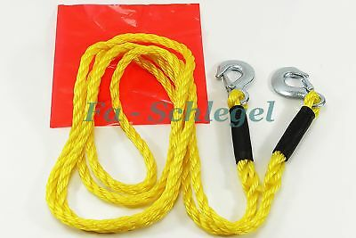 WOW Tow Rope Car Tow Rope 13.1 ft 3000 Kg NEW autoabschleppseil