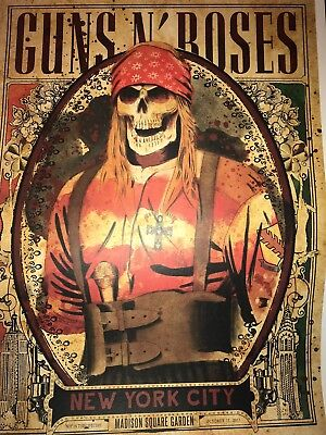 Guns N Roses Msg Nyc 10/15 Poster #2 Not In This Lifetime Tour Gnr New York Axl