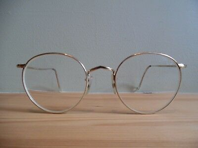 Vintage Saville Row Gold 14 KT GT Oval Eye Glasses Made in England