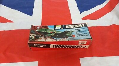 Vintage 1960s Thunderbirds JR 21 J.Rosenthal Thunderbird 2 Made in England Boxed