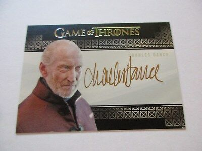 Game of Thrones Valyrian Steel Charles Dance as Tywin Lannister VS Autograph