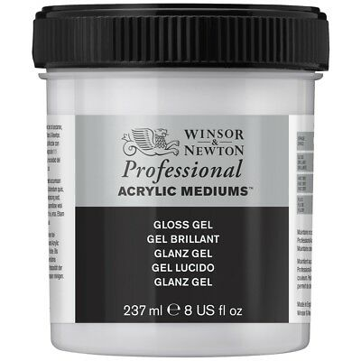 Winsor & Newton Professional Artists Acrylic Painting Mediums Gloss Gel 237ml