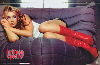 Lot Of 2 Posters:music: Young Britney Spears - Red Boots -Free Ship#9048  Rp65 M