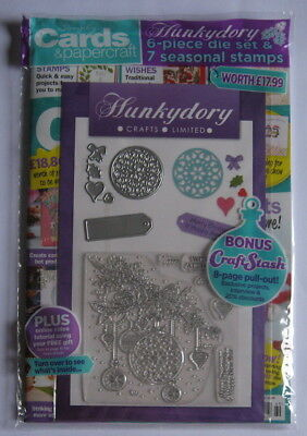 Simply Cards & Papercraft Magazine 169 with Hunkydory Seasonal Die Set & Stamps.