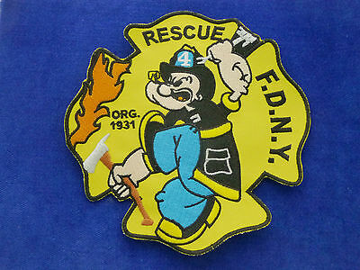 FDNY Rescue 4 Patch Fire Department New York - Popeye #A