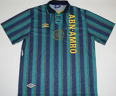1993-1994 Ajax Umbro Away Football Shirt (Size Xl)