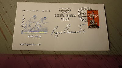 British Olympic Running Legend Roger Bannister Signed Olympics Fdc