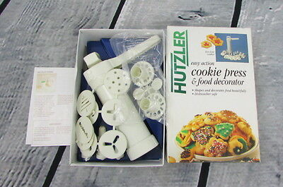 Hutzler Easy Action Cookie Press Gun and Food Decorator #695