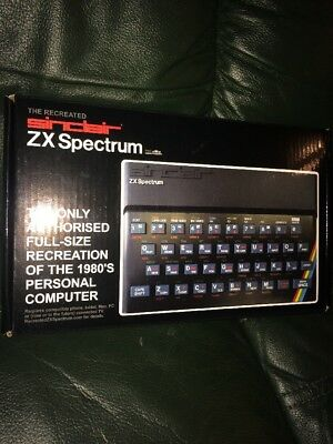 The 1980s Recreated Sinclair ZX Spectrum Computer With Stacks Of Original Games