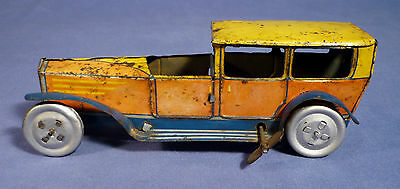 INGAP Blech Oldtimer Auto Limousine 30's vintage tin toy wind up car Italy A175