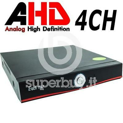 DVR AHD 4CH 4 Canali Videosorveglianza H264 HDMI LAN VGA Audio Video IR