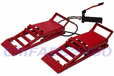 Hydraulic Car Ramps / Hydraulic Car Lifts / Adjustable Low Car Ramps -New in Box