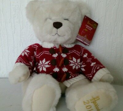 "Harrods 2012 CHESTER Foot Dated 13"" Annual Christmas Teddy Bear with Ear Tags"