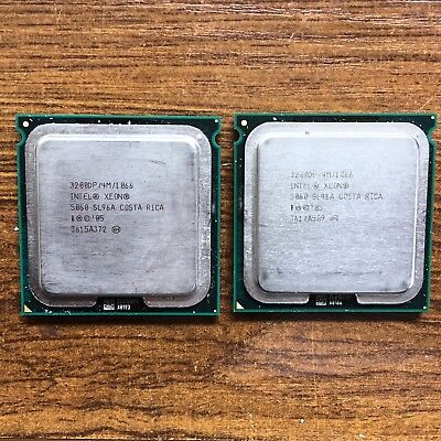 INTEL XEON 5060 Dual Core 3.2GHz 1066MHz SL96A Socket 771 CPU Matched Pair
