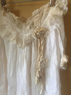 Antique Baby Baptism Dress Early 1900s Cotton Christening Vintage