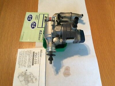 Os Blue Top Fsa 110 Four Stroke Engine For Rc Aeroplane With Instruction Manual