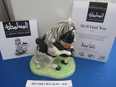 He'll Find You Nt12 Norman Thelwell Royal Doulton Mib