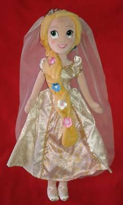 Disney Store Large Plush Wedding Rapunzel Doll Disneystore  Soft Toy Tangled