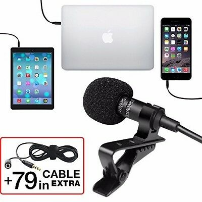 Professional Grade Lavalier Lapel Microphone ­Omnidirectional Mic