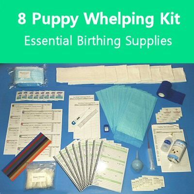 8 Whelping Supply Kit for Dogs / Puppy Birthing Supplies / New Puppy Handbooks