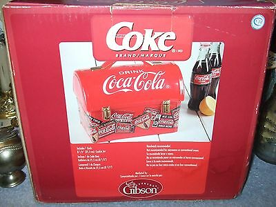 """Coca-Cola Gibson """"Lunch Box"""" Cookie Jar"""