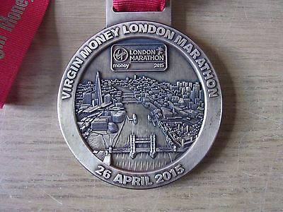 London Marathon 2015 Official's Medal & Ribbon Virgin Money 35Th Anniversary Run
