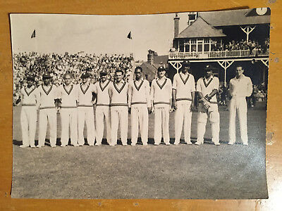 1950s West Indies Team at Scarbrough CG by F Stanley Cheer Press Photograph