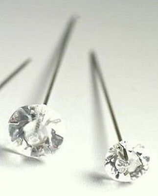 """24 x Clear Diamante Style Hat / Florists / Corsage / Pins - 2"""" (50.8mm)  long"""