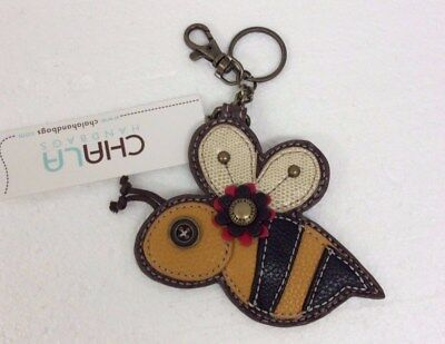 Chala Colorful Bumble Bee Key Chain Charm FOB Ring Coin Purse New