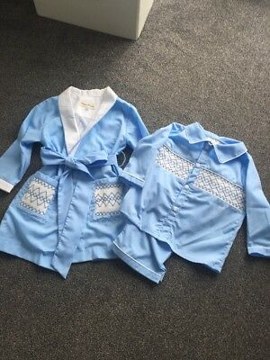 Baby Boys Smocked Pjs & Dressing Gown