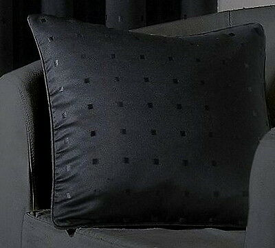"""Madison 18"""" Piped Cushion Cover Black BNWT"""