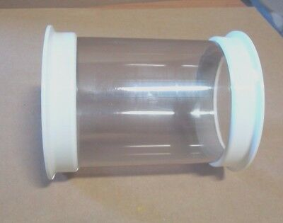 """Sight Glass Assembly, 4"""" D X 6"""" Long, Clear Polysufone, Triclamp Ends, Sanitary"""