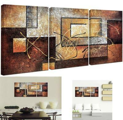 Abstract Wall Art Picture Print Canvas Framed Home Hang Decor Gift 3 Pcs
