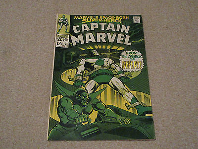 CAPTAIN MARVEL  Vol 1, No 3 -Marvel comics July 1968
