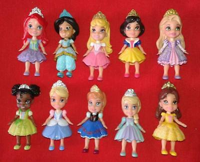 Disney Princess Mini Toddler Doll Lot Frozen Ariel Tiana Jasmine Belle Rapunzel