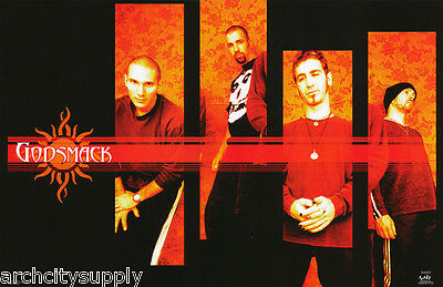 Lot Of 2 Posters: Music : Godsmack - Group Pose -  Free Ship   #6205     Lp38 X
