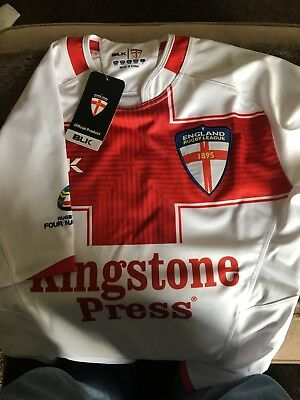 blk england rugby league jersey x small