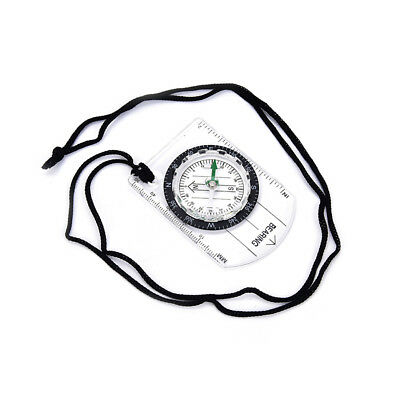 1pc portable compass mm inch travel baseplate ruler compass map Fad FO