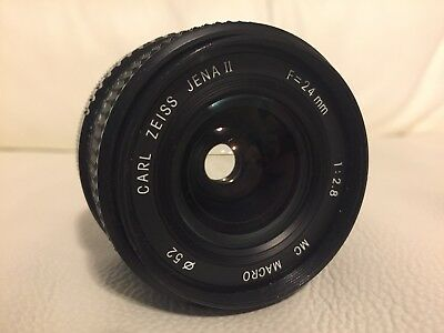 Carl Zeiss Jena 24mm Wise Angle Macro f 2.8 Lens