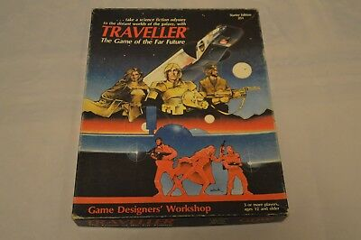 TRAVELLER Starter Box Set from 1983 by GDW RPG Used condition