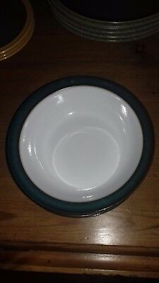 Denby Greenwich Stoneware Soup Cereal Bowls