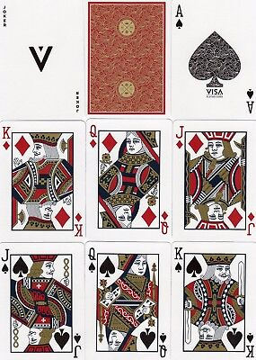 """SUPERB PACK """"Bicycle Type - Visa Red Edition"""" Playing Cards"""