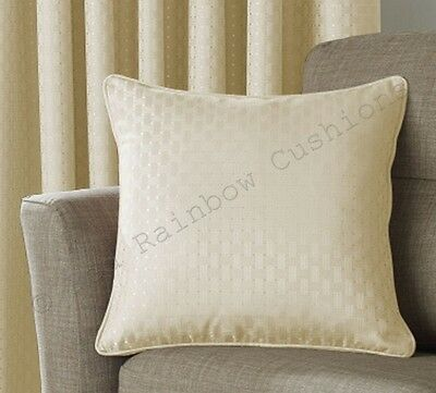 """Solitaire Cream 18"""" Piped Cushion Cover BNWT"""