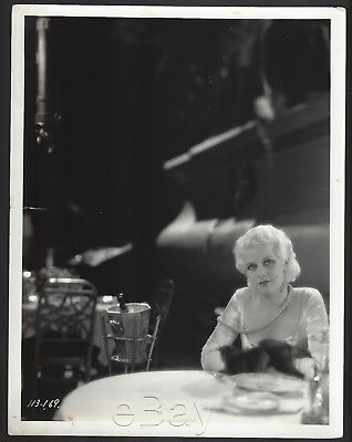 "1931 wow CANDID JEAN HARLOW ""Tod Browning Estate"" IRON MAN  - Boxing FINE #13"