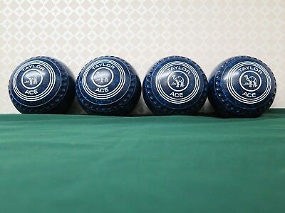 Lawn Bowls Taylor Ace Size 2, Blue Two/Tone, Date Stamp A22 WB, Good Condition.
