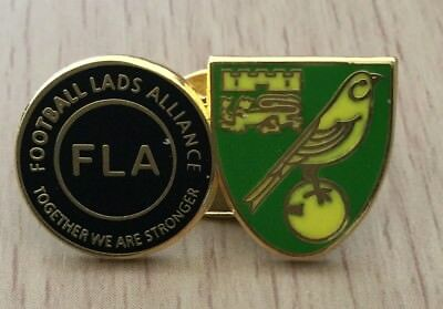 Norwich Football Lads Alliance Official Enamel Pin Badge - Together Stronger