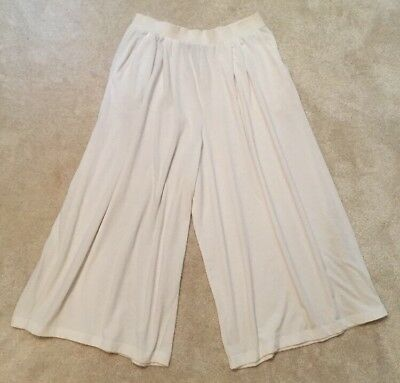 Vintage Very Unusual Richard Martin Extra Wide Cropped White Throusers/Skirt M