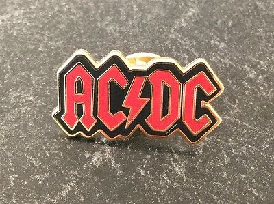 Acdc Red And Black Enamel Pin Badge Rare And Collectible